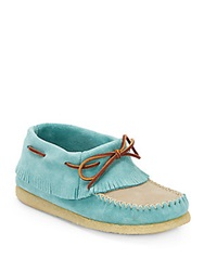 Eastland Casco Suede Moccasins Turquoise