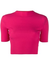 Mrz Ribbed Knit Top Pink