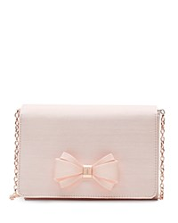 Ted Baker Grosgrain Bow Clutch Baby Pink Rose Gold