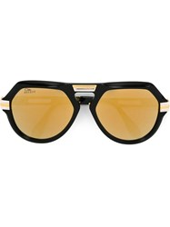Cazal '634' Special Edition Aviator Mirrored Sunglasses Black