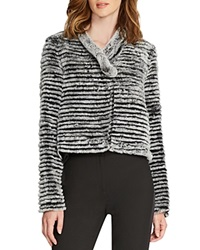 Halston Heritage Reversible Quilted Fur Jacket