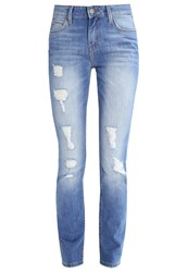Lee Elly Straight Leg Jeans Pacific Destroyed Denim
