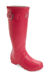 Joules Women's 'Field Welly' Rain Boot Pink Lady