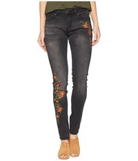 Jag Jeans Sheridan Skinny W Embroidery In Thorne Blue Coal Wash Black