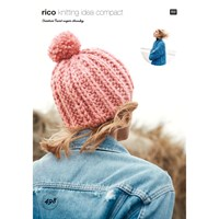 Rico Creative Twist Super Chunky Women's Hat And Jacket Knitting Pattern 498