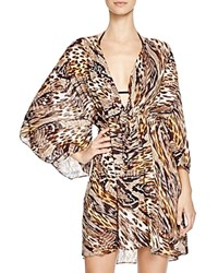 Gottex Sahara Beach Dress Swim Cover Up Golden Leopard