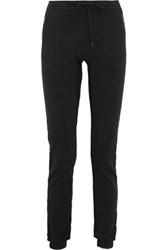 Tomas Maier Cotton Jersey Tapered Track Pants Black