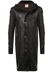 Guidi Mid Length Hooded Jacket Black