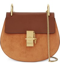 Chloe Drew Small Saddle Cross Body Bag Tobacco