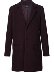 A.P.C. Single Breasted Coat Red