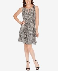 Lucky Brand Printed A Line Dress Black Mult