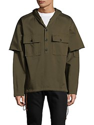 Drifter Cotton Hooded Pullover Sepia