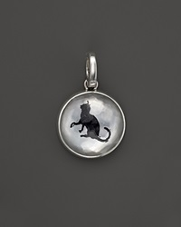 Ippolita Sterling Silver Cat Charm In White Shell And Black Onyx Bloomingdale's Exclusive Silver Black