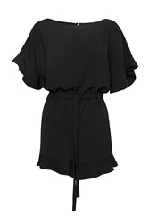 French Connection Cari Romper Black
