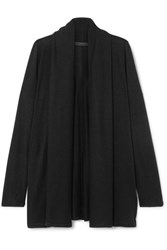 The Row Knightsbridge Stretch Jersey Cardigan Black