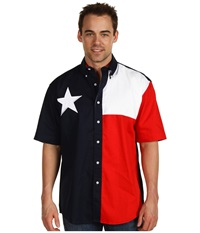 Roper S S Pieced Texas Flag Shirt Natural Men's Clothing Beige