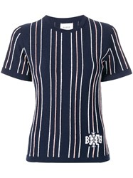 Barrie Cashmere Striped Top Blue