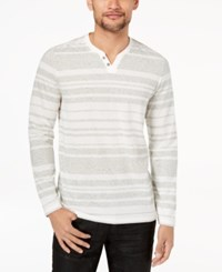 Inc International Concepts Men's Striped Long Sleeve T Shirt Created For Macy's White Pure