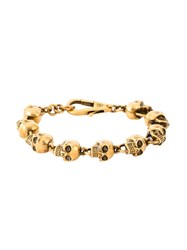 Alexander Mcqueen Skull Bead Bracelet Yellow And Orange