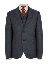 Gibson Patterned Notch Collar Tailored Fit Suit Jacket Teal