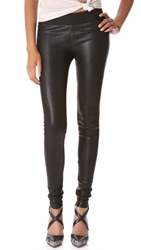 Gold Sign Zebra Coated Legging Jeans Black Coated