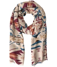 Pendleton Printed Scarf Desert Sky Natural Scarves Multi