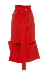 Marni Paper Bag Waist Skirt Red