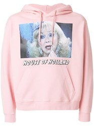 House Of Holland Photo Print Hoodie Cotton Pink Purple