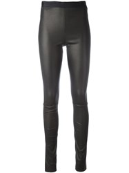 Neil Barrett Leather Leggings Black