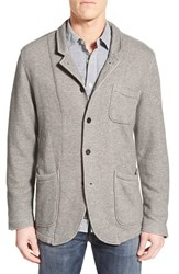Men's Grayers 'Albemarl' Regular Fit French Terry Sport Coat Grey Heather