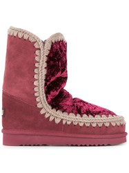 Mou Eskimo Shearling Lined Boots Red