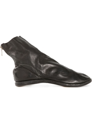 Guidi Kangaroo Back Zip Boots Black