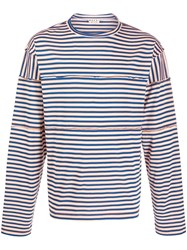 Marni Deconstructed Effect Striped T Shirt 60