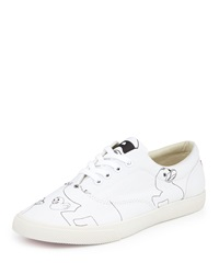 Bucketfeet Duckies Canvas Lace Up Sneaker White