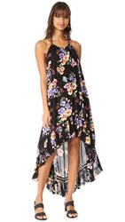Minkpink Hidden Wonder Wrap Halter Dress Black Floral