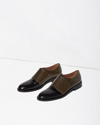 Marni Front Strap Oxford Seaweed And Black