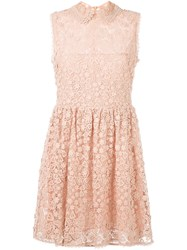 Red Valentino Macrame Lace Mini Dress Pink And Purple