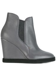 Santoni Wedge Ankle Boots Grey