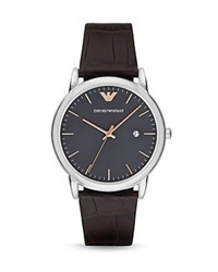 Emporio Armani Luigi Watch 43Mm Gunmetal Gray