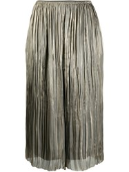Vince Iridescent Pleated Culottes 60