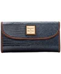 Dooney And Bourke Lizard Embossed Continental Wallet A Macy's Exclusive Style Midnight Blue