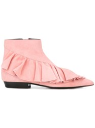J.W.Anderson Ruffled Boots Pink Purple