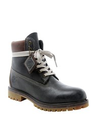 Timberland Premium Waterproof Textured Nubuck Leather Boots Forged Iron