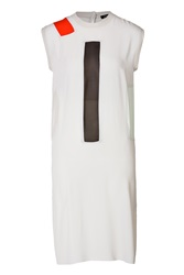 Damir Doma Shift Dress With Silk Paneling White