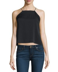 Milly High Low Trapeze Tank Black