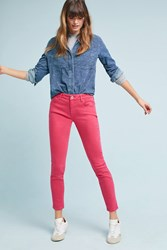 Anthropologie Pilcro Mid Rise Skinny Ankle Jeans Pink