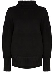Hyke Turtleneck Knit Jumper Black