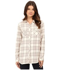 Volcom Cozy Day Long Sleeve Top Vintage White Women's Long Sleeve Button Up Beige