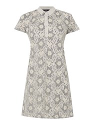 Therapy Lace Shirt Dress Grey