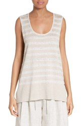 Lafayette 148 New York Women's Sequin Stripe Knit Tank